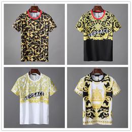 sezioni di fiori Sconti 2019 nuovi ragazzi di moda girocollo sezione sottile serpenti modello a maniche corte T-shirt ambientale erba fiori novità per il tempo libero jersey