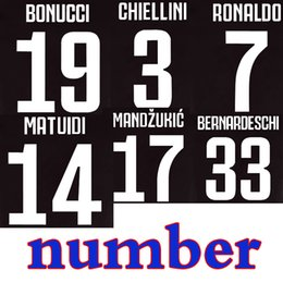 numbered soccer jerseys Promo Codes - Player version 2019 ronaldo soccer jersey number 2020 DYBALA BONUCCI juve Just a number 100 Start Wholesale