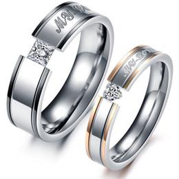 Accesorios de pistola mujer online-Diamante Pareja Anillos 18 k Rose Gold Gun Amor negro Joyería romántica de diseño para hombres Mujeres Día de San Valentín Promesa de la boda Accesorios Anillo