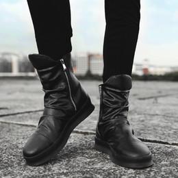 Botas chelsea de hip hop Hombres bailando en la calle Cómodos Botas Martin  Zapatillas de deporte con cremallera de bota alta Moda de invierno zapatos  de ... d82829e8ea0