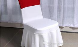 2019 copertine rosse in lycra Coperture della sedia di cerimonia nuziale bianca universale libera di trasporto per la decorazione piegante dell'hotel delle decorazioni di nozze di banchetto