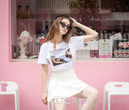 2019 весенние росписи 2019 весной новые модели взрыва ZSIIBO женская футболка росписи женская рубашка с короткими рукавами рубашки повседневная мода рубашка скидка весенние росписи