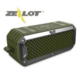 RETAIL-ZEALOT Sem Fio Ao Ar Livre À Prova D 'Água Bluetooth Speaker S6 Altavoc Altoparlante SD Card32G Baixo Cabo de Áudio Estéreo de 5200 mAh Bateria de Fornecedores de pequenos alto-falantes