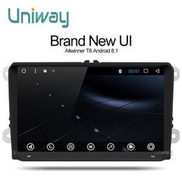 2019 teléfono gps de golf Uniway ADZ9071 android 8.1 dvd del coche para vw passat b7 b6 golf 5 polo tiguan octavia rapid fabia con reproductor de radio de navegación gps