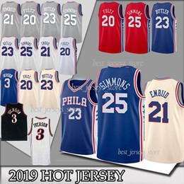 43e425e1dba ncaa 76ers Philadelphia Ben 25 Simmons Joel 21 Embiid Jerseys 23 Butler 20  Fultz 3 Iverson 17 Redick 18 19 TOP quality jerseys