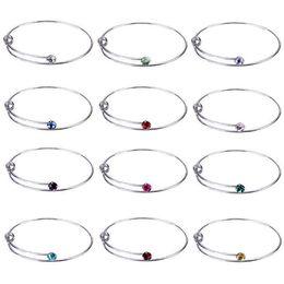 Ring che fanno forniture online-Nuovo espandibile Wire braccialetto cristallo in bianco dell'anello della mano regolabile Gioielli fai da te per perline o braccialetti di fascino accessori making in commercio all'ingrosso Bulk