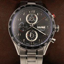 часы 16 Скидка роскошные часы мужчины тег CALLBRE 16 44 мм автоматические машины небольшой циферблат работы из нержавеющей стали без батареи Время часы модель часы 21