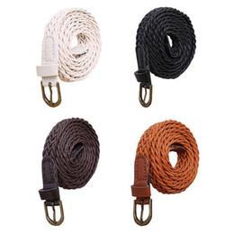 Взрослый канат онлайн-Women Belt Rope Buckle Gown Fashion adult Solid Waist Bracelet Casual Suitable Belt Cinturon Mujer Ceinture Femme Cinto