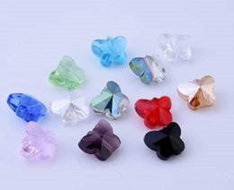 Livraison gratuite! 10mm 14mm perles de verre cristal BUTTERFlLy lâche pour collier boucle d'oreille ? partir de fabricateur