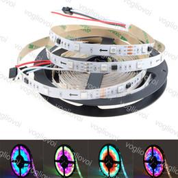 ws2811 tira impermeable 12v Rebajas Luz de tira LED DC12V Luz de tira LED WS2811 direccionable individualmente Blanco / negro PCB 30/60 píxeles RGB 2811 Led cinta de cinta impermeable DHL