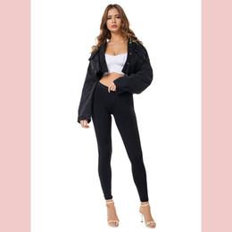 giacca sexy del denim delle donne Sconti Giacche di jeans firmate da donna 2019 Giacche larghe di marca di moda Giacche di jeans corte sexy hip-hop di lusso da donna