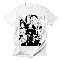 2019 camisetas de anime Naruto Akatsuki Pein camiseta blanca hombres algodón Homme Anime camisa marca Casual Streetwear Harajuku moda cuello redondo camisetas para hombre rebajas camisetas de anime