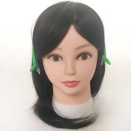 bambole vergini Sconti Dummy Heads con capelli umani Training Parrucchiere Doll Mannequins Human Heads Training Female Wig 100% Virgin Hair