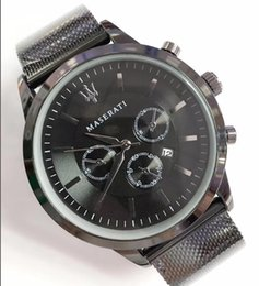 групповые гонки Скидка 2019 новый maserati роскошные кварцевые мужские часы из нержавеющей стали мужские стальные сетки гоночные часы кварцевые часы роскошные мужские часы Orologi