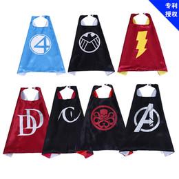 Costumes de criança on-line-Vestidos de dia das crianças do dia das bruxas crianças avengers série manto superhero atacado infantil dress tema festa prom costumes