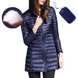 SFIT Damen Jacke Warm Down Down Jacket Ultra Light Mantel mit Kapuze Jacken Parka weiblich Tragbarer Outwear Velvet