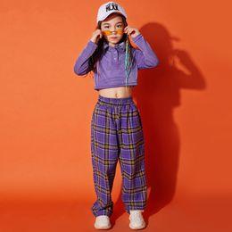 costume de hip hop pour enfants Promotion Costume de Danse Enfant Sequin Hip-Hop Dance Jazz Wear Vêtements de Scène Stress Performance Jazz Kids DQS1019