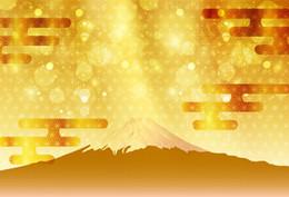 Neue jahre hintergründe online-Laeacco brillanter glänzender Berg-Fuji-japanisches neues Jahr-Polka Dots Photo Backdrops Backgrounds Photocall Photo Studio