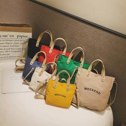 bonitos sacos de totes pequenos totes Desconto Casual Kids Bag Mulheres Girl Canvas Totes Mini Cute Girl Handbag Shoulder Small Bags