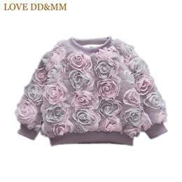 2019 одежда для мальчиков 12 месяцев Любовь DDMM девушки толстовки 2018 зима Новая детская одежда девушки сладкий с длинными рукавами сплошной цвет Роза толстый свитер