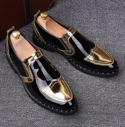 Erkekler Ptent Deri Hakiki Lüks Tasarımcı Bullock Erkek Loafer Ayakkabı Siyah İtalyan Düğün ve Balo Ayakkabı Erkek Moccasin nereden