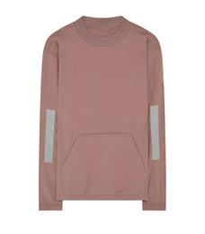Luce riflessa online-18FW maglione girocollo europeo di lusso riflettente felpa riflettono girocollo leggero mens maglioni firmati HFWPWY258