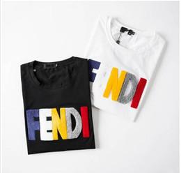 2019 oi padrões 2019Fashion Designer De Luxo T Shirt Hip Hop Mens Branco Roupas Casuais T Camisas Para Homens Com Letras Impresso TShirt Tamanho M-3XL
