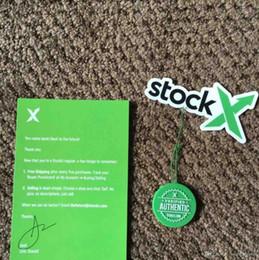 Tarjetas de plastico baratas online-Venta caliente Barato Stock X Etiqueta Con Código QR Etiqueta X Tarjeta Verde Etiqueta Circular Plástico Verificado Zapatos auténticos