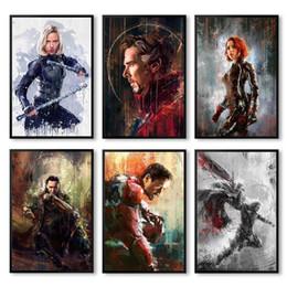 maravilha posters Desconto Cópia do cartaz da arte da parede lona Pintura parede Pictures Para Casa Decor Marvel filme do super-herói Deadpool Ferro Spider Man Loki