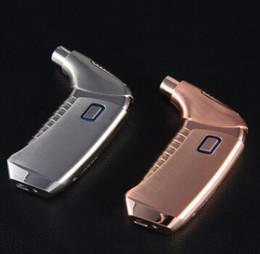 сигарета с высокой дымовой электронной сигаретой Скидка Electric Arc USB Charging Cigarette Lighter Metal Electronic Tobacco Lighters Creative High Grade Smoking Lighter Men Gift