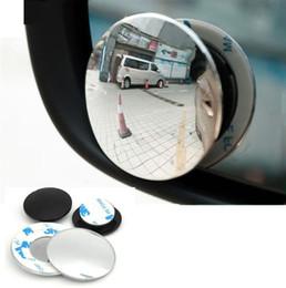 2019 vw cc fibre de carbone Style de voiture 360 degrés sans cadre aveugle miroir grand angle rond HD verre convexe rétroviseurs (détail)