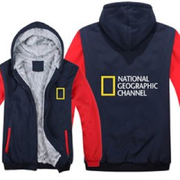 2020 nationale hoodies  National Geographic Channel Hoodies Winter-Männer Art und Weise Wolle Liner Jacke National Geographic Sweatshirts Männer Mantel S-5XL günstig nationale hoodies