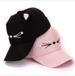 9dfaaf5b87018 cat baseball hat UK - Hat Summer Outing Sunshade Baseball Cap Korean  Edition Lovely Cat Ear