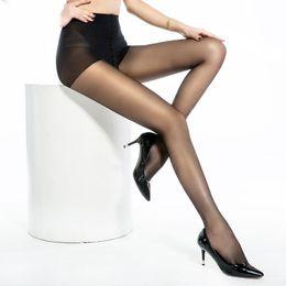 Gonne leggolate della pelle nera online-Estate Hook resistente a vita alta elastica della pelle ultra sottile nero nudo ghette delle signore Signora sexy che basano i calzini Pant calze di seta Collant
