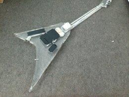 12-строчная левая рука Скидка Бесплатная доставка Популярные Crystal Led light электрогитара Полный акриловый корпус с буле светодиодный свет гитары