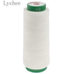 2019 bolsas de regalo de tela de encaje Lychee Life 1000 m Hilo de coser soluble en agua Hilo blanco crudo Accesorios de suministros de costura de bricolaje