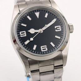 2019 relógios simples para homens Simples Estilo Sapphire automática Mens pulso 36MM Preto marcação fixa abobadadas moldura de aço inoxidável Luminous Man Assista ao ar livre relógios relógios simples para homens barato