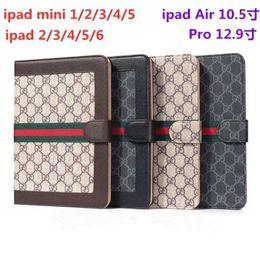 2019 lenovo ultra slim Luxo clássico Tablet Case para iPad 10.5 Pro 9.7 Moda Vintage Grade Caso PU capa de couro para IPAD Air1 / 2 Mini12345