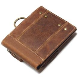 Portefeuilles en cuir faits à la main hommes en Ligne-Handmade Genuine Leather Men Wallet avec porte-monnaie Retro Short Wallet Men Durable en cuir véritable portfel mâle cartera hombre