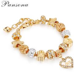 Pandora Style DIY Mode Femmes Rétro Créatif Charme Argent Plaqué Cristal De Mariage Bracelets Fille Bracelet Pas Cher Bijoux Perlé Brins AA144 ? partir de fabricateur