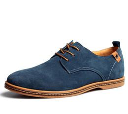 Vestidos derby florales online-38-48 zapatos elegantes hombres se visten Oxford genuina zapatos de gamuza de cuero de vaca más el tamaño de Derby de baile zapatos de boda formal hombre homme mocassin