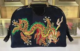 cuir brodé Promotion 5A Womens 499621 Ophidia Dragon Petit Sac à Bandoulière Brodé, Tirette Tirette Toile + Cuir, Venez avec Boîte Dust Sac Livraison Gratuite