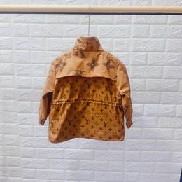 casacos longos de inverno da linha da princesa Desconto Crianças Casacos de Designer Casaco de Luxo Padrão Estilo Britânico Meninos Blusão Meninas Marca Jaqueta Com Capuz Roupas de Criança 2 Estilo Tamanho 100-160