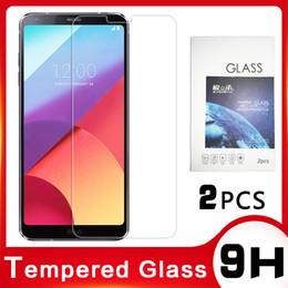 Protezione dello schermo l9 online-Per LG G7 / G6 temperato pellicola di vetro V20 / 30 / non-full screen schermo ThinQ60 telefono cellulare Protezioni anti-impronta w30pro metà schermo