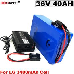 2019 cajas de energía solar 36V 40AH Batería eléctrica de litio Scooter 36V para Bafang BBSHD 800W 1500W Motor E-bici batería 36V para LG 18650 batería