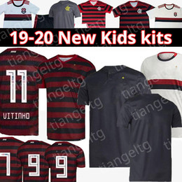 Camisas personalizadas dos esportes on-line-2019 2020 Flamengo Soccer Jersey Crianças Kits 19 20 Fútbol personalizado GUERRERO DIEGO VINICIUS Flamengo GABRIEL Sports Football Shirt 04
