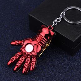 grande super herói Desconto Super Herói Os Vingadores Homem De Ferro Mão Keychain Liga de Metal Grande Mão 5.2 CM Homem de Ferro Saco de Mãos Fivela Chave Do Carro Titular Chaveiro Filme Fãs de Presente