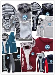 Sudadera coche online-2019 sudadera con capucha de invierno volkswagen impresión del logotipo del coche Hombres mujeres Sudaderas con capucha de Fleet cálidas ropa de otoño sudaderas chaqueta con cremallera sudadera con capucha de lana streetwear