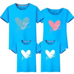 ropa de papá hijo Rebajas Hijos Niñas Camisetas de la familia 2019 Nueva familia de verano de manga corta cartoot camiseta mamá papá ropa de algodón madre niños ropa fy059