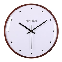 dot watches Promo Codes - 30cm Wall Clock Modern Design Dot Type Nordic Mute Fashionable Yellow Simple Round Mirror Wall Clocks Watch Home Decor